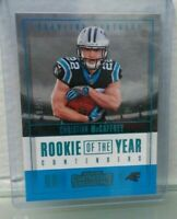 Christian McCaffrey 2017 Contenders Rookie of the Year Platinum Rare RC # 18/25