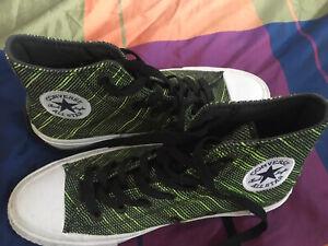 Converse 'Chuck Taylor II / Green Striped' high tops With Lunarlon Sz36.5