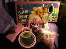 Barbie Dresser Sewing Machine Table 2 Chairs Scale Clothing & Game Lot