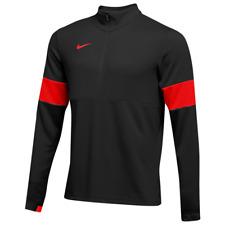 Nike Mens Therma 1/2 Zip Long Sleeve Shirt Mens Size Large Black/Red Ao5919-013