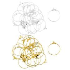 40pcs Classic Gold&Silver DIY Jewelry Findings Ear Charm Rings/Earring Hoops