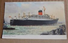 Postcard RMS Ivernia Cunard Liner unposted