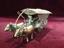 Antique, Asian Antiques, Ox Cart w/ driver, silver plate, 1900-1940, Asian