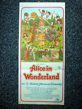 ALICE IN WONDERLAND R-Rated Sexy Artwork Original 1970s Daybill Movie Poster