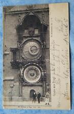 alte AK Gruss aus Prag Die astronomische Uhr Böhmen Carl Bellmann in Prag 1903