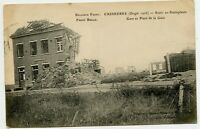 Caeskerke Railroad Station WWI Postcard Military Post Belgium - Scotland UK 1918