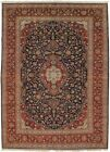 Vintage Signed Traditional Floral 9X13 Hand Knotted Oriental Rug Decor Carpet