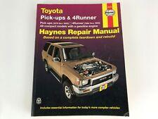 Haynes Repair Manual 92075 Toyota Pick-up & 4Runner 79 thru 95 Multi Yrs/Models