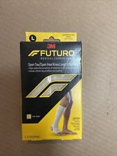 Futuro Medical Compression Open Toe/Heel Knee Length Stocking Beige Large