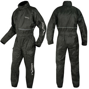 Motorcycle Apparel Waterproof Rain Suit Over One 1 pc Trousers Jacket
