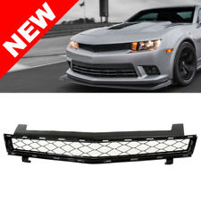 2014+ Chevy Camaro Z28 Style Badgeless Honeycomb Grille  - Black