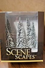 """BACHMANN SCENE SCAPES HO SCALE 5"""" - 6"""" PINE TREES w/ SNOW  6 TREES/BOX"""