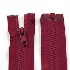 RED 10'' - 32'' INCH CHUNKY NO.5 OPEN END ZIPS *12 SIZES* PLASTIC  ZIPPER NZ1177