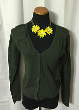 Cabi Women's Trendy Sweater Posh Cardigan Ladies Sz S #639 Fall 2011 Loden Green