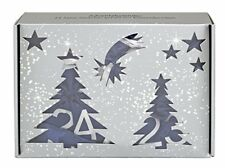 BriConti Make-up Adventskalender 2017 mit 24 Satin-säckchen DUNKELBLAU