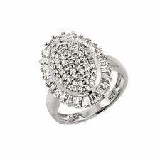 925 Sterling Silver ladies Micro Pave Ring W/ diamonds//NEW DESIGN!! SZ 5-9