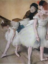 "Degas The Dancing Class Art Reproduction /1952 Lithograph Size 7 9/16"" x 10""1880"