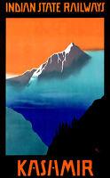 "Vintage Travel *FRAMED* CANVAS PRINT ~ Kashmir India Railway Himalayas 16""x12"""