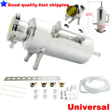 Universal Radiator Alloy Swirl Pot Breather Air Tank Engine Coolant Catch Can
