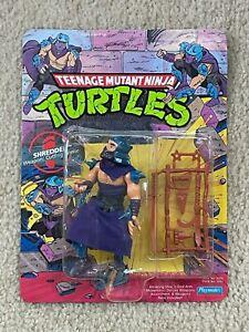 TMNT 1990 Teenage Mutant Ninja Turtles Shredder Action Figure Toy MOC Sealed