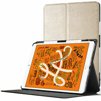 Apple iPad Mini 5 Smart Case | Case Cover Stand | Gold + Stylus Protector