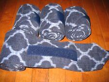 New set of 4 navy/light blue print horse polo wraps (horse/pony leg wraps)