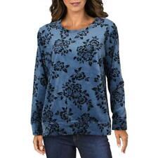Karen Scott Sport Womens Velour Comfy Cozy Sweatshirt Loungewear BHFO 0374