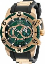Invicta Men's 50mm Bolt Quartz Chronograph 18k Rose Gold Plated Green Dial Watch
