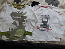 2 PACK BOYS T-SHIRTS / SIZE - 5 YEARS  / EXCELLENT CONDITION!!! VERTBAUDET