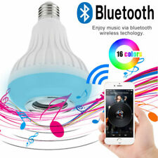 E27 Bluetooth Control LED RGB Color Bulb Light Smart Music Audio Speaker Lamps