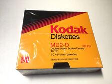 """KODAK 10 DISQUETTES DISK 5.25"""" 5P 1/4 MD2-D 2S2D DOUBLE FACE DOUBLE DENSITE NEUF"""