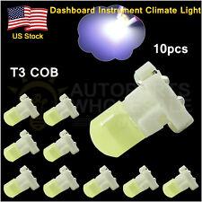 10× Cool White T3 New Wedge COB LED Bulbs Instrument Panel Gauge Lamp Light 12V
