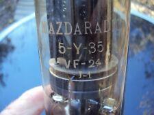 lampe tube radar militaire  marque mazdaradio 5-y-35 vf-24 j-1