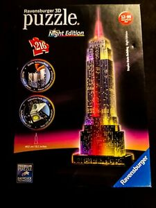 3D Empire State Building Night Edition Puzzle Ravensburger  LED LightingL501H