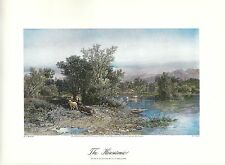 VINTAGE ART PRINT OF EARLY PICTURESQUE AMERICA - 1874 - THE HOUSATONIC