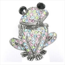 Smart Frog Froggy Animal Pet Cocktail Ring Costume Jewel Crystal Multicolor 189