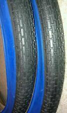 TWO(2) DURO 26X2.125 BEACH CRUISER BICYCLE TIRES BRICK PATTERN,BLUEWALLS