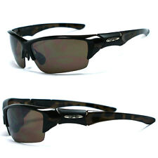 New Xloop Sports Sunglasses - Brown Tortoise Frame Amber Lens- X45