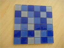 Crystal glass mosaic tiles - Pool/waterline/Feature Wall - Mixed Blue 48X48X8mm