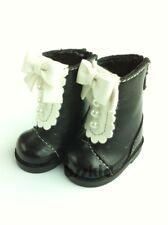 BJD Yo-SD 1/6 Dollfie Effner Kish Doll Shoes Boot Pearl Lolita Black