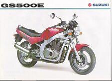 SUZUKI GS 500 E MOTORBIKE BROCHURE 1996 jm