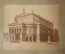 "Albumen Frankfurt Das Operahaus c1880s Leon & Levy Photograph 9"" × 11"""