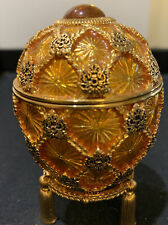 Joan Rivers Imperial Treasures Iii Coronation Gold Faberge Egg with Stand