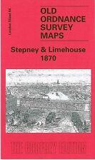 OLD ORDNANCE SURVEY MAP STEPNEY & LIMEHOUSE 1870