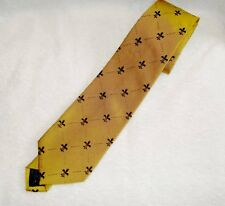 Golden Necktie with Purple Fleur De Lis.  Reminds me of a college.