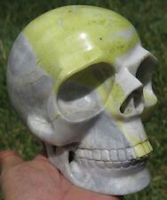 152mm Natural Chinese Picasso Jasper Crystal  Skull