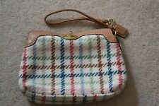 COACH WRISTLET WOOL CHECKED