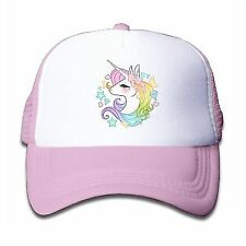 90a9410032520 Waldeal Cute Unicorns Kids Girls Mesh Cap Trucker Hats Adjustable Baseball