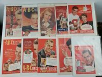 Vintage Chesterfield ABC Print Ad Lot of 10 Original Tobacco