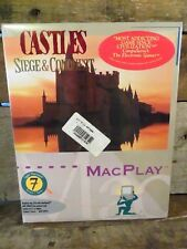 CASTLES Siege & Conquest (Mac Play) Apple Macintosh System 7 Savvy NEW Sealed